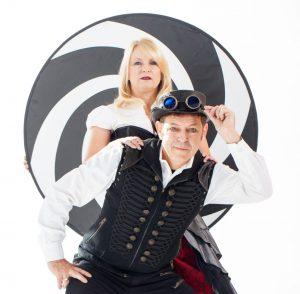 Comedy Hypnotists Misty & The SandMan logo