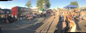 crowds, audience, fair, festival, hypnosis show