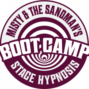 Misty & The SandMan Stage Hypnosis Boot Camp Logo